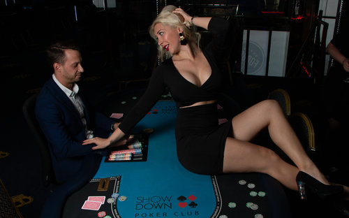 Private Poker Night with Topless Waitress